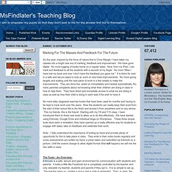 MsFindlater's Teaching Blog: Marking For The Masses And Feedback For The Future