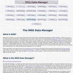 MSG Data Manager
