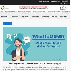 MSME Registration Online in India<