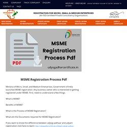 MSME Registration Process Pdf