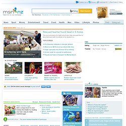 MSN NZ, Messenger and hotmail.com, NZ news, sport, weather
