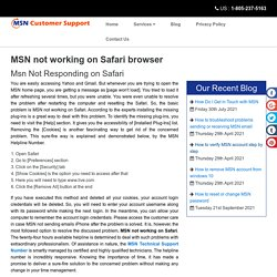 MSN not working on Safari browser