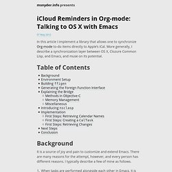 iCloud Reminders in Org-mode: Talking to OS X with Emacs