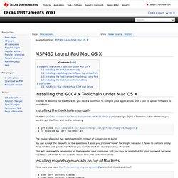MSP430 LaunchPad Mac OS X
