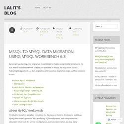MSSQL to MySQL Data migration using MySQL workbench 6.3