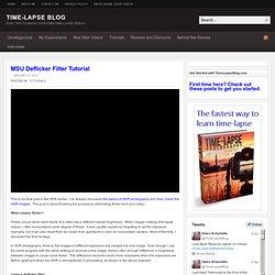 MSU Deflicker Filter Tutorial