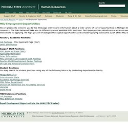 MSU Employment Opportunities