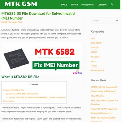 MT6582 DB File Download for Solved Invalid IMEI Number