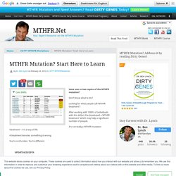 C677T Mutation: Basic Protocol