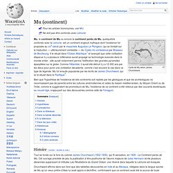 Mu (continent)