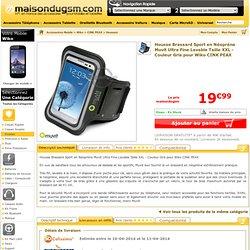 Muvit MUARM0007 - Housse Brassard Sport en Néoprène Muvit Ultra Fine Lavable Taille XXL - Couleur Gris pour Wiko CINK PEAX