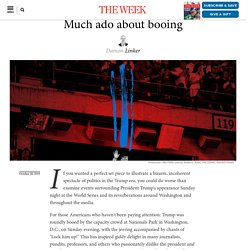 Much ado about booing
