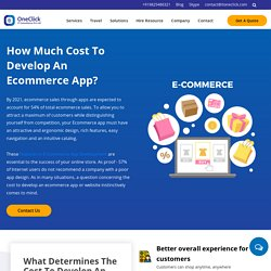 How much it will cost to develop ecommerce application?