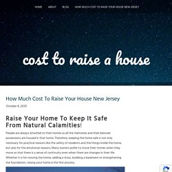How Much Cost To Raise Your House New Jersey