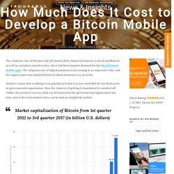 How Much Does It Cost to Develop a Bitcoin Mobile App
