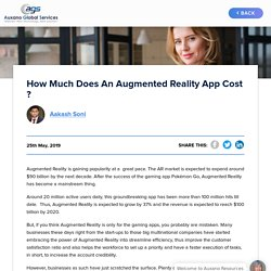How Much Does An Augmented Reality App Cost ?