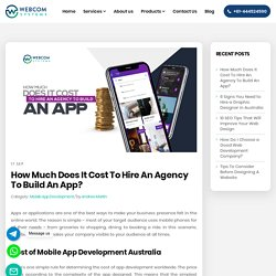 How Much Does It Cost To Hire An Agency To Build An App?