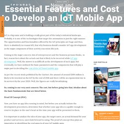 How much does it cost to develop an IoT mobile app