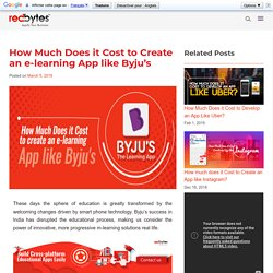 How Much Does it Cost to Develop an eLearning App like Byju's