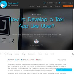 How Much Does it Cost to Develop a Taxi app Like Uber?