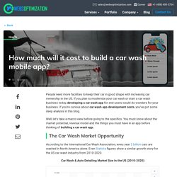 How Much Does Car Wash App Development Costs?