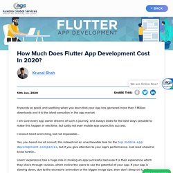 How Much Does Flutter App Development Cost in 2020?