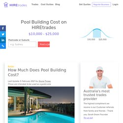 2021 How Much Does Pool Building Cost?