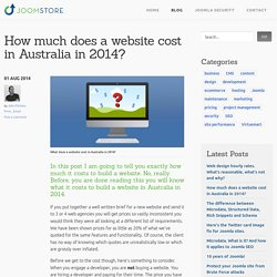 How much does a website cost in Australia in 2014?