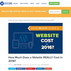 How Much Does a Website Cost in 2016? Let's Find Out!