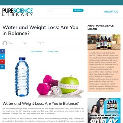 Benefits of Drinking Water To Lose Weight