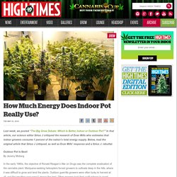 How Much Energy Does Indoor Pot Really Use?