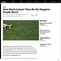 How Much Free Time Do the Happiest People Have?