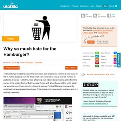 Why so much hate for the Hamburger?