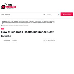 How Much Does Health Insurance Cost In India