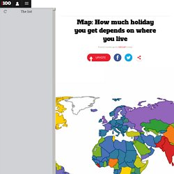 Map: How much holiday you get depends on where you live