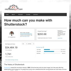 How much you can make with Shutterstock? I made $34,000!