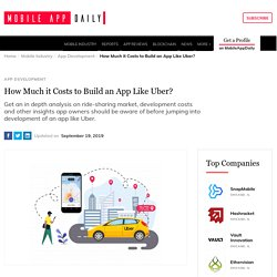 How Much Money it Costs to Build an App Like Uber?