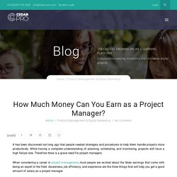 How Much Money Can You Earn as a Project Manager?