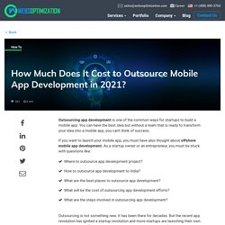 How Much Does It Cost to Outsource App Development in 2020?