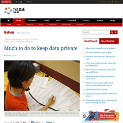 Much to do to keep data private