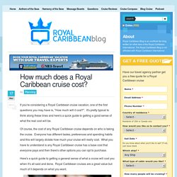 How much does a Royal Caribbean cruise cost?
