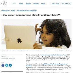 How much screen time should children have?