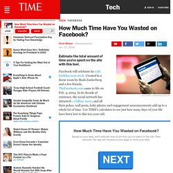 Facebook Time Machine: How Much Time Have You Wasted?