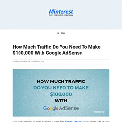 How Much Traffic Do You Need To Make $100,000 With AdSense