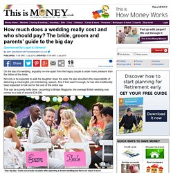 How much does a wedding really cost and who should pay?