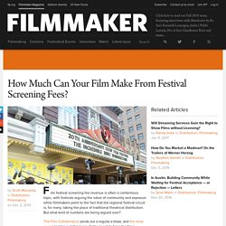 How Much Can Your Film Make From Festival Screening Fees?