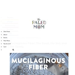 Mucilaginous Fiber: The Good, the Bad, and the Gooey ~ The Paleo Mom