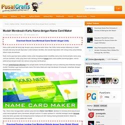 Mudah Mendesain Kartu Nama dengan Name Card Maker