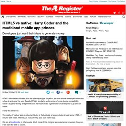 HTML5 vs native: Harry Coder and the mudblood mobile app princes