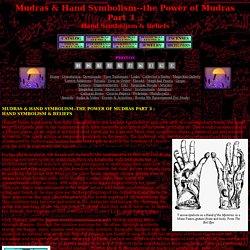 the Power of Mudras Part 3: Hand Symbolism & Beliefs